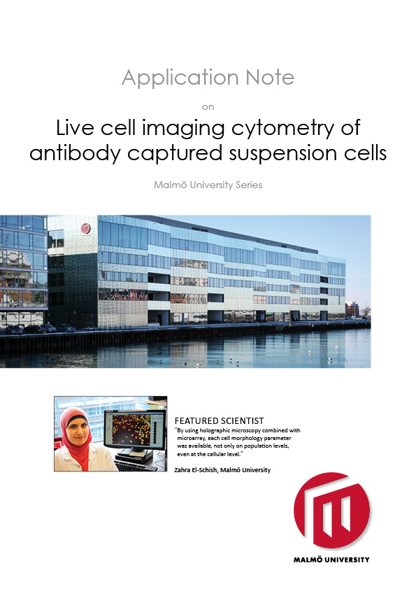 HoloMonitor Live Cell Imaging Cytometry of Antibody Captured Suspension Cells