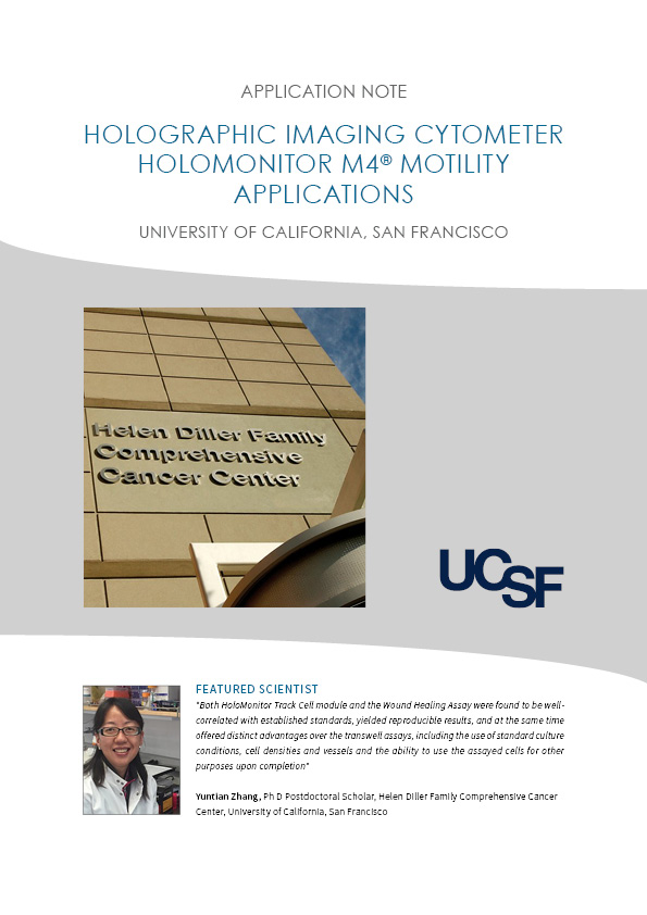 HoloMonitor Cell motility vs. cell migration application note