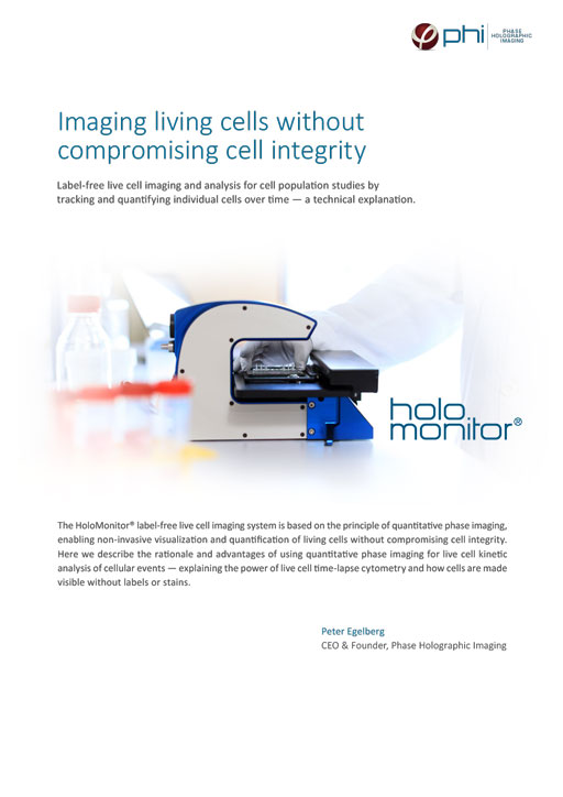 Imaging living cells without compromising cell integrity